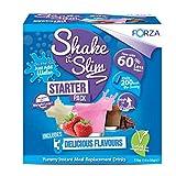 Frullati Pasti Sostitutivi FORZA Shake It Slim Starter Pack - Frullati Dimagranti in Polvere - 14 porzioni