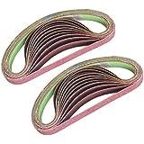 Tivoly - Lot de 24 bandes abrasives pour ponceuses électriques 13 x 454 mm - Compatible Black + Decker