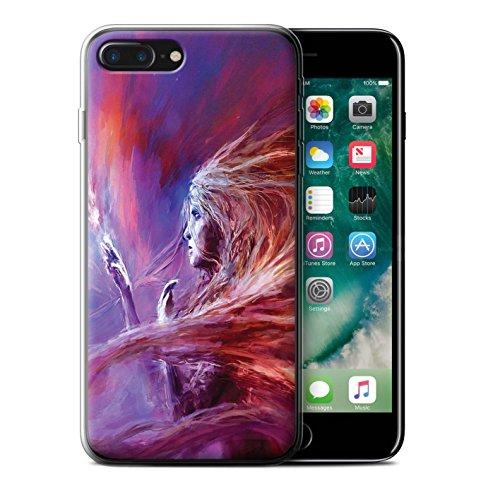 Offiziell Chris Cold Hülle / Gel TPU Case für Apple iPhone 7 Plus / Planet/Mond Muster / Fremden Welt Kosmos Kollektion Raum Mädchen