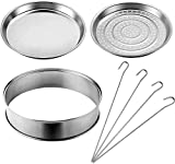 VonShef Halogen Oven Accessory Set includes Extender Ring, Skewers, Steamer and Frying Pan for ALL 10-12 ltr Halogen Ovens