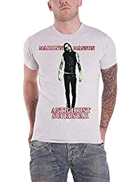 Marilyn Manson T Shirt Antichrist Superstar Band Logo Official Mens White
