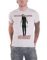 Marilyn Manson T Shirt Antichrist Superstar Band Logo Official Mens White M