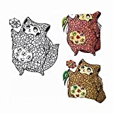 dfgi Cute Puffy Cat Butterflies Her Stomach Animals Wildlife Animal Miscellaneous Throw Pillow Covers Cotton Linen Cushion Cover Cases Pillowcases Sofa Home Decor 18'x 18'inch (45 x 45cm)