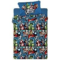 Disney Juego de Sábanas Térmica Polar 150GR Avengers (para Cama de 105x190)