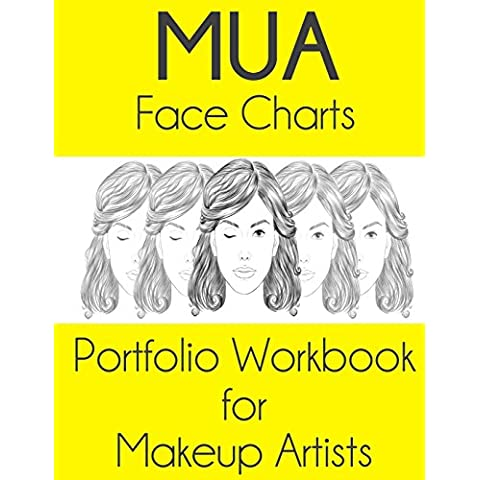 Mua Face Charts Portfolio Workbook for Makeup Artists: Luna Edition