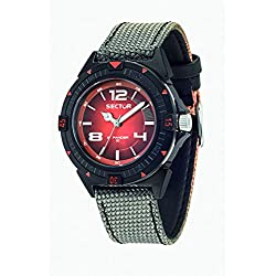 Sector No Limits Expander 90 Men's Quartz Watch with Black Dial Analogue Display and Grey Nylon Strap R3251197034
