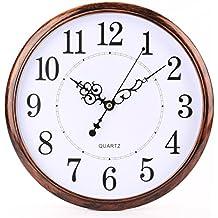 Tosnail Nostalgie Reloj de pared silencioso, 30cm