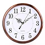 Tosnail 30cm Retro Non Ticking Silent Quartz Decorative Wall Clock