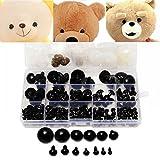 154pcs 6 a 24mm Occhi di sicurezza in plastica rondelle Teddy Bear bambola animale Casi Giocattoli per bambini ragazzino nero fai da te