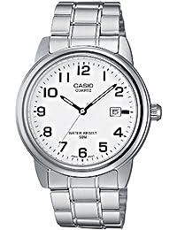 CASIO MTP1221A7BVEF - Reloj de caballero de cuarzo, correa de acero inoxidable color varios colores