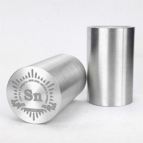 Feiner Drehen Dose Metall Zylinder Dia. 35× 55mm 99,99% 385g Gravur Periodensystem