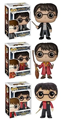 Funko POP! Harry Potter: School Robes / Quidditch Robes / Triwizard Champion Outfit - Stylized Vinyl Figure Set NEW