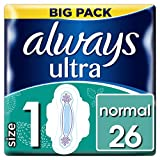 Always Ultra Normal Sanitary Towels With Wings - 26 Count