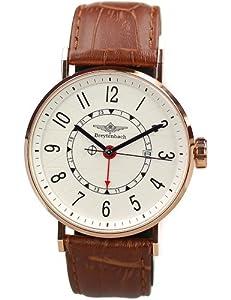 Reloj de caballero Breytenbach BB6620W-RG de cuarzo, correa de piel color marrón de Breytenbach