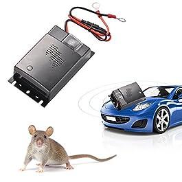 ZXX Repellente a Ultrasuoni Contro Topo per Auto, Risparmio energetico Controllo dei parassiti Veicolo Difesa, Respinge…