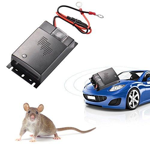 ZXX Repellente a Ultrasuoni Contro Topo per Auto, Risparmio energetico Controllo dei parassiti Veicolo Difesa, Respinge Ratti Topi Scarafaggi Ant Ragno