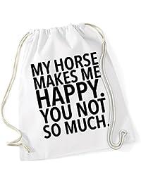 My Horse Makes me Happy - You Not Borsa De Gym Bianco Certified Freak 22ab0319d23