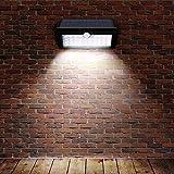 Solarlicht Garten Aussenlampe mit Außenwandleuchte Solar LED Solar Wandleuchten mit Lichtsensor LED Treppenlichter Intelligent Strahler Leuchte Wandleuchte für Außen mit Bewegungsmelder