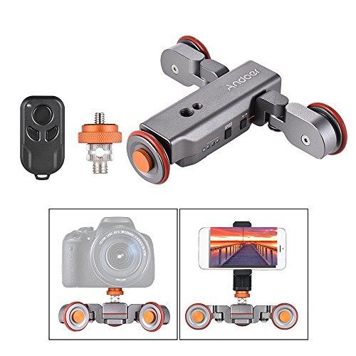 Andoer L4 Video Kamera Slider Dolly 3 Automatische mit drahtloser Fernbedienung / 1800mAh Akku Car Slider Rolling Skater für Canon Nikon Sony DSLR iPhone 7 7 plus 6 plus für Samsung Huawei