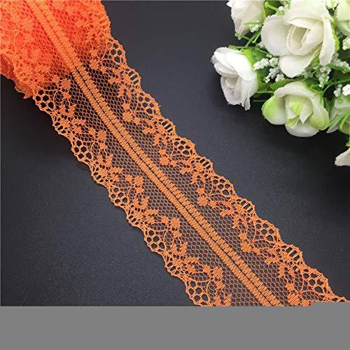 16 farben 10 yards 40mm bilaterale handwerk sticken net spitzenbesatz band bogen handwerk zum nähen dekoration [orange] (Handwerk Net)
