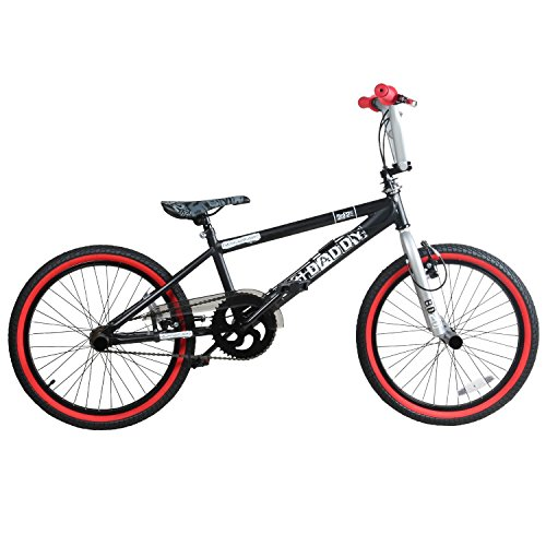 20 Zoll BMX Rooster Big Daddy Spoked SPECIAL EDITION Rotor Pegs , Farbe:schwarz/rot