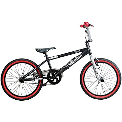 20 pollici BMX Rooster BIG DADDY Spoked Special Edition Rotor Pegs 20 pollici tubo superiore, nero/rosso