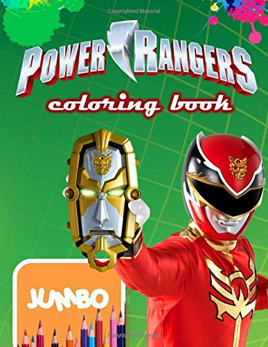 Power Rangers Jumbo Coloring Book: Great Coloring Book for Kids and Any Fan of Power Rangers (Perfect for Children Ages 4-12)