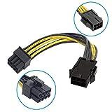 R10 6 Pin auf 8 Pin PCIE PCI Express Grafikkarte Stromkabel Adapter Strom Kabel, PCI-E 6-polig, 8-Pin Power-Kabel, 6-Pin PCIe weiblich auf 8-Pin PCIe männlich, Kabellänge: ca. 17cm