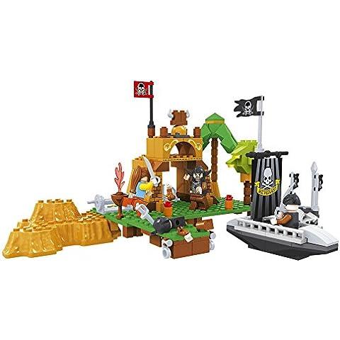 Ausini - Construcción isla y barcos piratas, 226 piezas (Colorbaby 42825)