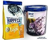 Happy Cat Adult Light 2 x 10 kg = 20 kg + Futtertonne Happy Cat 20 Liter