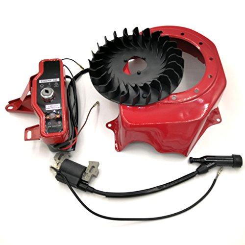 Shioshen Schalter Lüfter starten & Cover Ignition Coil Kit für HONDA GX160 GX200 168F 2-3 kW Motor Wasser Pumpe Generator