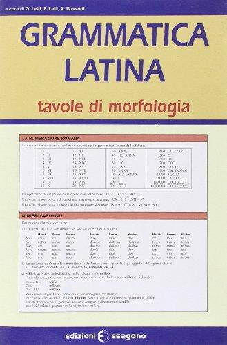 Grammatica latina. Tavole di morfologia. Per il Liceo scientifico