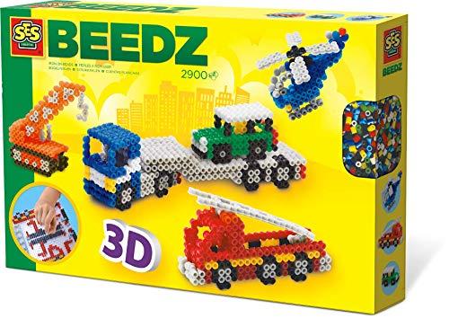 SES Creative 06253 06253-Beedz Bügelperlen 3D Fahrzeuge
