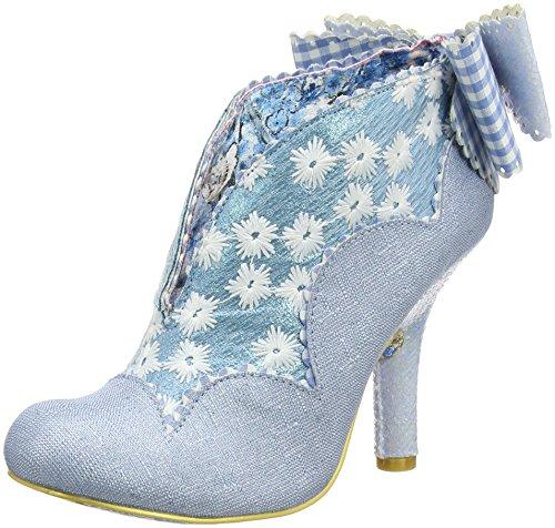 Irregular Choice - Zapatos de Tacón con Punta Cerrada de Tela Mujer, Color Azul, Talla 39