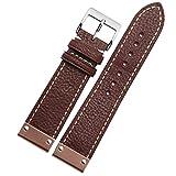 NEU 22mm braun Leder Uhrenarmband ersetzen Schnalle Rose Gold Metall Armband
