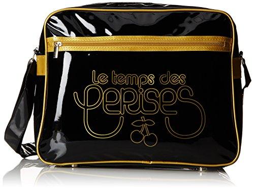 Le Temps des Cerises Rumba Bi-Color 1, Borsa a tracolla donna, (Multicolore (Noir/Bronze)), M (M EU)