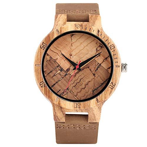 QMTFC Exclusive Wooden Watch for Men, Cork scum/Broken Leaves, Wooden dial Watch, Quartz Watch, Wristwatch for Men And Women,2