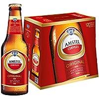 Amstel Cerveza - Pack de 12 botellas x 250 ml - Total: 3L