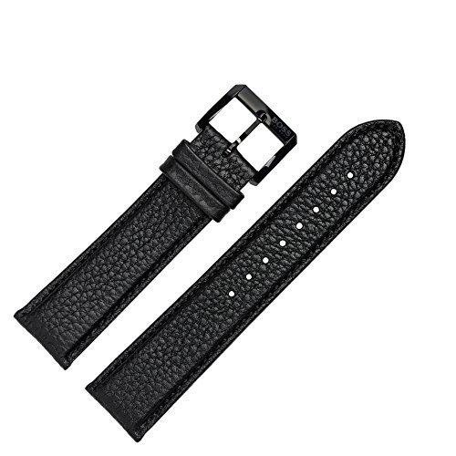 Hugo Boss Uhrenarmband 22mm Leder Schwarz Kroko - Uhrband 659302265