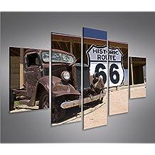 Imagen imágenes en lienzo Ruta 66Arizona Vintage Car MF XXL Póster Lienzo Cuadro de decoración salón Marca Islandburner