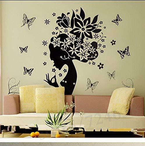Lsfhb Super DealAufkleber Wohnkultur Wandaufkleber Adesivo De Parede Wandtattoos Schmetterling Blume Tapeten Wohnzimmer Dekor 89X105 Cm
