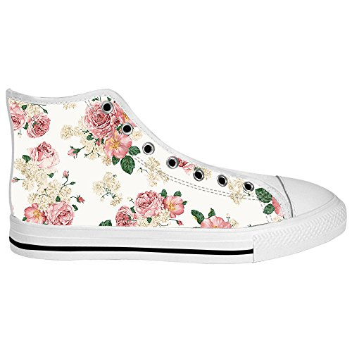 Dalliy Floral Flower Women's Canvas Shoes Lace-up High-top Footwear Sneakers Chaussures de toile Baskets A