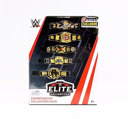 Championship Collectors Five Belt Pack - WWE Elite Ringside Exclusive Mattel Toy Wrestling Action Figure Accessories Pack