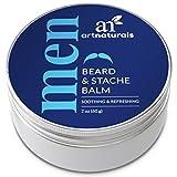 ArtNaturals Bartwachs und Schnurrbart Balsam Pomade - (2 Oz / 60g) - Leave-In Conditioner & Wichse - Bartpflege für Männer - Frisiercreme für den Bart - Pflege, Stil, Halt und Form - mit Arganöl und Bienenwachs