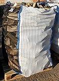 5 x Hochwertiger Holz Big Bag speziell für Brennholz * Woodbag, Holzbag, Brennholzsack * 100x100x160cm * Netzgittergewebe / Ventilationsgewebe* Holz trocknen + transportieren * (Ohne Inhalt)