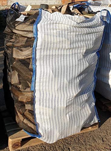 10 x Hochwertiger Holz Big Bag speziell für Brennholz * Woodbag, Holzbag, Brennholzsack * 100x100x160cm * Netzgittergewebe / Ventilationsgewebe* Holz trocknen + transportieren * (Ohne Inhalt)