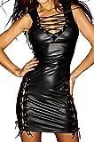 Noir Handmade Clubwear erotisches Damen-Kleid aus Tüll und Wetlook Reizwäsche Größen 46 - 3XL