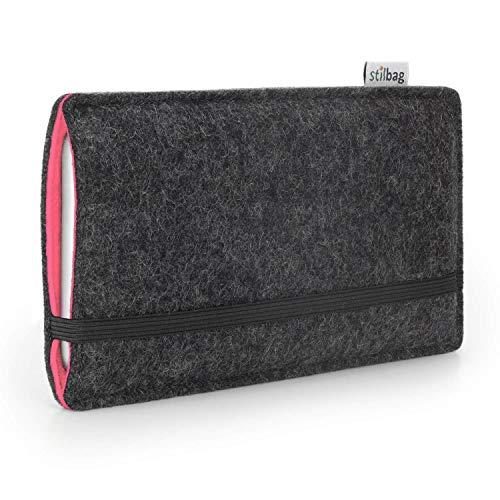 stilbag Etui Feutre 'FINN' pour Sony Xperia M4 Aqua - Couleur: Anthracite/Saumon