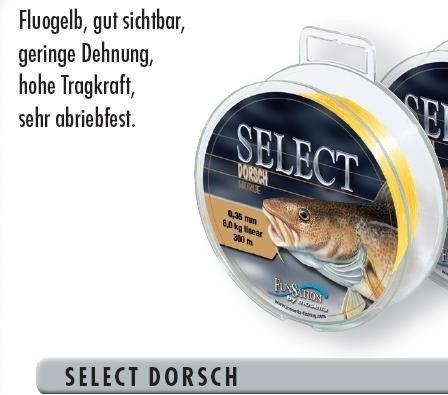 Mosella Dorschschnur Schnur Dorsch Meereschnur 0,35-0,50mm, Durchmesser:0.45mm
