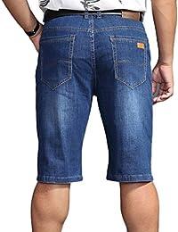 d770b92f32 Guiran Homme Short Basique En Jeans Straight Fit Pantacourt Jeans Shorts  Stretch Bermuda